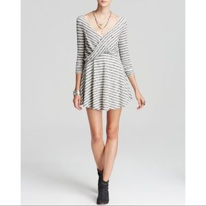 Free People Striped Knit Maverick grey dress M
